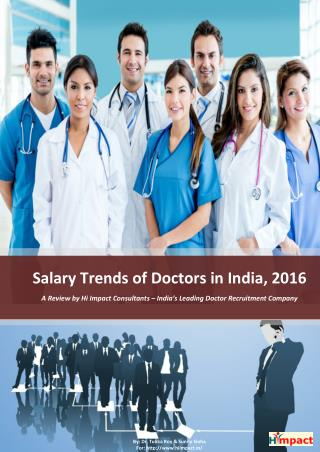 Salary Trends of Doctors in India, 2016