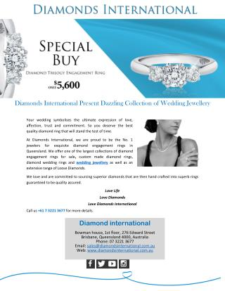 Diamonds International Present Dazzling Collection of Wedding Jewellery