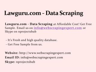 Lawguru.com - Data Scraping