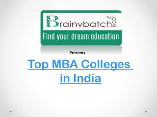 Latest ranking List of MBA colleges on Brainybatch