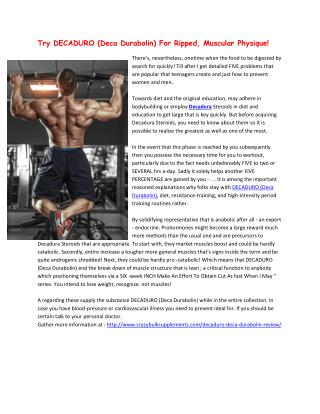Crazy Bulk Legal Steroids For Ripped Physique