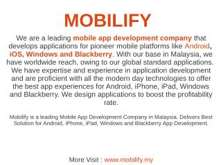 Iphone App Development  | Android App Development Mobilify
