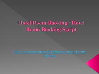 Hotel Room Booking / Hotel Room Booking Script