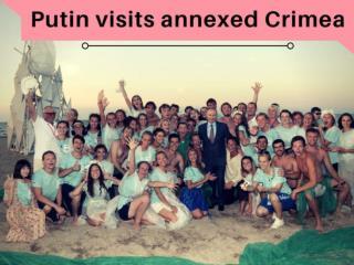 Putin visits annexed Crimea