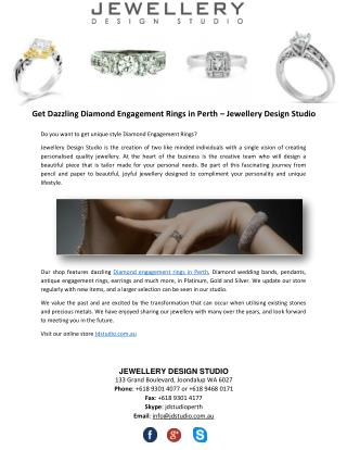 Get Dazzling Diamond Engagement Rings in Perth – Jewellery Design Studio