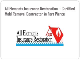 All Elements Insurance Restoration � Certified Mold Removal Contractor in Fort Pierce