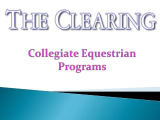 Collegiate Equestrian Programs
