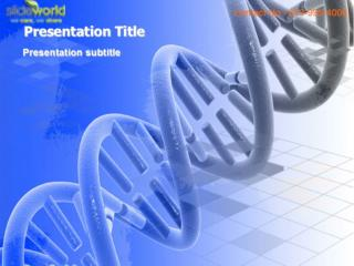 Medical DNA Theme PowerPoint Templates