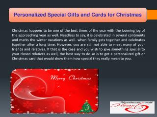 Personalized Special Gifts and Cards for Christmas