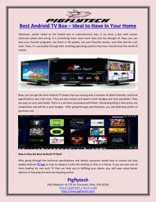 Best Android TV Box – Ideal to Have In Your Home
