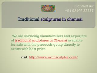 Traditional sculptures in Chennai
