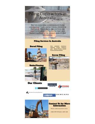 Piling Contractors in Australia