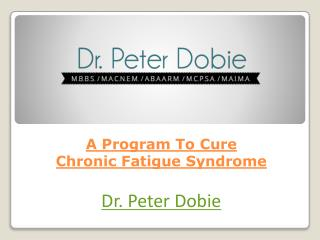 A Program To Cure Chronic Fatigue Syndrome