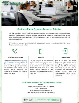Business Phone Systems Toronto –Telogiks