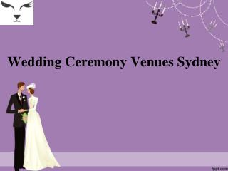 wedding ceremony venues sydney