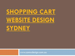 shopping cart website design Sydney