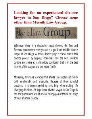 family lawyer san diego