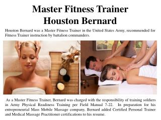 Master Fitness Trainer Houston Bernard
