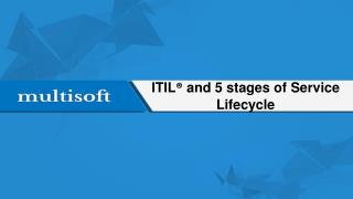 ITIL® and 5 stages of Service Lifecycle