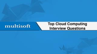 Top Cloud Computing Interview Questions