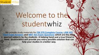 OPS 571 Final Exam - UOP OPS 571 Final Exam Answers on Studentwhiz