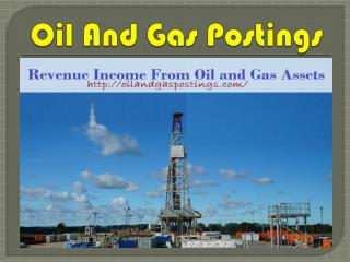 Revenue Income from Oil and Gas Assets