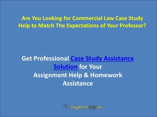 Commercial Law Case-study Help Online