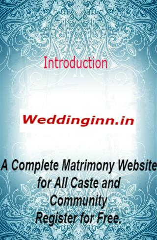 Weddinginn: Matrimony, Matrimonial and Marriage Bureau Services