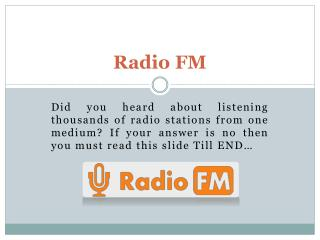 Best internet Based radio APP for Android and iPhone