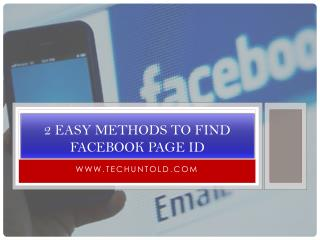 2 Easy Methods To Find Facebook Page ID