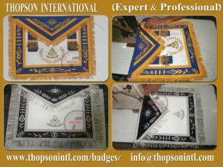 Masonic blue lodge PM officer apron
