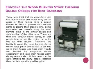 Wood Burning Stoves Online