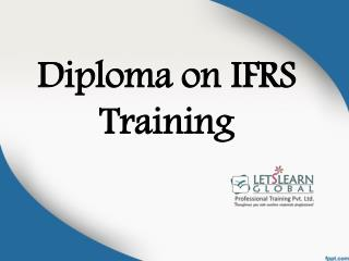 Ifrs Training Institute in Hyderabad, IFRS Training Hyderabad, IFRS Coaching Dubai - Letslearnglobal