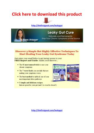 Leaky Gut Cure Review - Scam or Legit - PDF eBook Download