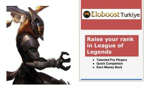 Raise your rank in League of Legends