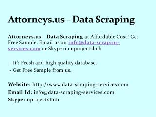 Attorneys.us - Data Scraping