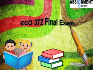 Assignment E Help: ECO 372 Final Exam | ECO 372 Final Exam Question and Answers