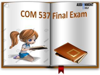 COM 537: COM 537 Final Exam - Assignment E Help