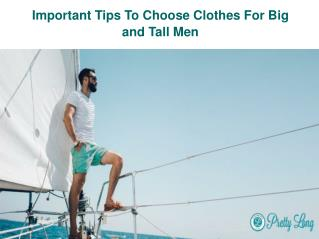 Big and Tall Mens Clothing