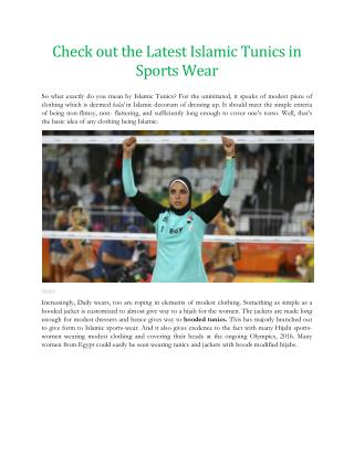 Check out the Latest Islamic Tunics in Sports Wear