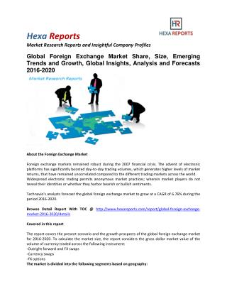 Foreign Exchange Market Share, Size, Emerging Trends and Analysis To 2020