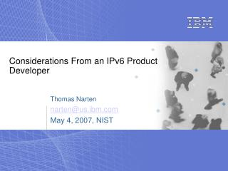 Considerations From an IPv6 Product Developer