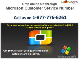 Microsoft Customer Service Number  1-877-776-6261- A Smart Tactic to Get Quick Resolution