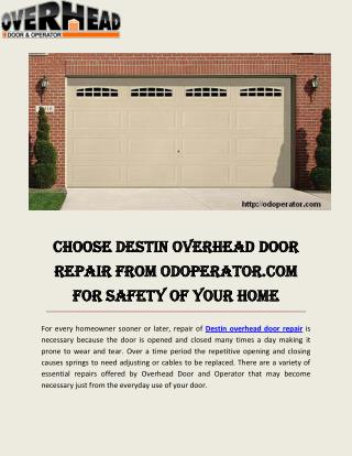 Garage Door Service Ft Walton