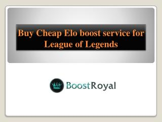 Buy Cheap Elo boost service for League of Legends