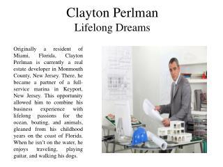 Clayton Perlman - Lifelong Dreams