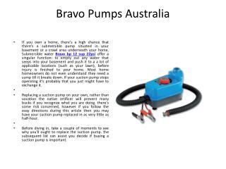 Bravo Pumps Australia