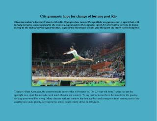 City gymnasts hope for change of fortune post Rio