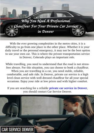 Private Car Service in Denver