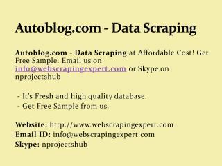 Autoblog.com - Data Scraping